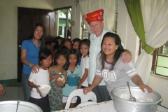 Seamy Joe with Ms. Savard and the little ones-1